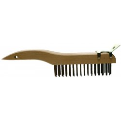 Advance Brush - 85034 - Shoe Handle Scratch Brush W/scraper 4x16 Rows Cs