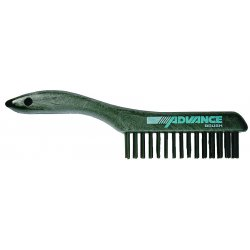 Advance Brush - 85039 - Shoe Handle Scratch Brush 4x16 Rows Ss Wire