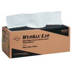 "Kimberly-Clark - 05322 - Kimberly-Clark Professional* WYPALL* L10 12"" X 10 1/4"" 1-Ply White Paper General Purpose Utility Wiper (125 Per Box, 18 Box Per Case)"