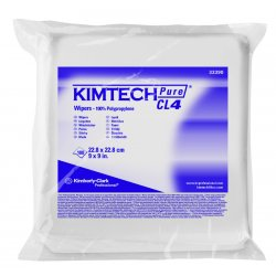 "Kimberly-Clark - 33390 - Clean Room Wipes, 9"" x 9"", 100 Wipes per Container, 5 PK"