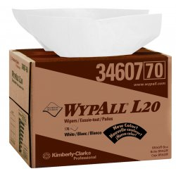 Kimberly-Clark - 34607 - Wypall WypAll L20 Wipers Brag Box - Wipe - 176 / Carton - White