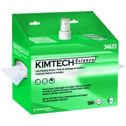 Kimberly-Clark - 34623 - Kimwipes Lens Cleaning Station 1-ply 560 Sht/sta