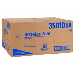 "Kimberly-Clark - 35010 - Kimberly-Clark Professional* WYPALL* X60 20"" X 43.700"" White HYDROKNIT* Disposable Flat Sheet Shower Towel (100 Per Pack)"