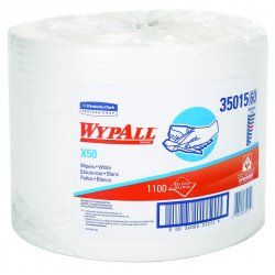 "Kimberly-Clark - 35015 - Wypall X50 Wipers - Wipe - 9.80"" Width x 13.40"" Length - 1100 / Carton - White"