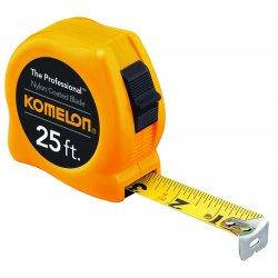 "Komelon - 410 - 10'x5/8"" Chrome Case Tape With Nylon Coated Bla, Ea"
