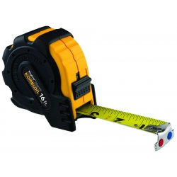 "Komelon - 7416 - 1""x16' Steel Tape Measure Mag Grip Rubber Jacket, Ea"