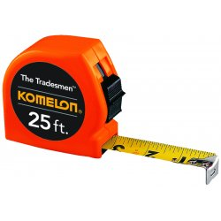 "Komelon - T3725 - 1""x25' Orange Tradesmanmeasuring Tape 12/dsplay, Ea"