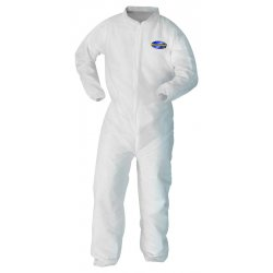 Kimberly-Clark - 10468 - Collared Disposable Coveralls with Elastic Cuff, White, L, SMMMS