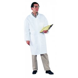 Kimberly-Clark - 44453 - White Microporous Film Laminate Disposable Lab Coat, Size: L
