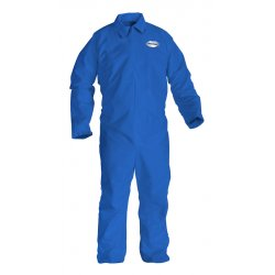Kimberly-Clark - 45313 - FR Treated Cellulosic and Polyester Spun Lace, Flame-Resistant Coverall, Size: L