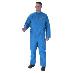 Kimberly-Clark - 58507 - Collared Disposable Coveralls with Elastic Cuff, Blue, 4XL, SMS