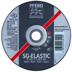 Pferd - 61026 - 4-1/2 Type 27 Aluminum Oxide Depressed Center Wheels, 7/8 Arbor, 1/4-Thick, 13, 300 Max. RPM