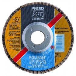 Pferd - 62073 - 4-1/2 X 5/8-11 Polifan Psf Zirc Conical 80g
