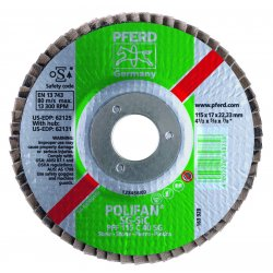 Pferd - 62130 - 4-1/2 X 5/8-11 Polifan Sg Sil Car Flat 24g