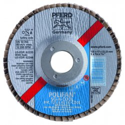 Pferd - 62241 - 4-1/2 X 5/8-11 Polifan Sg A-cool Conical 40g