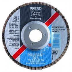 Pferd - 62254 - 4-1/2 X 5/8-11 Polifan Sg Alu Ox Flat 80g