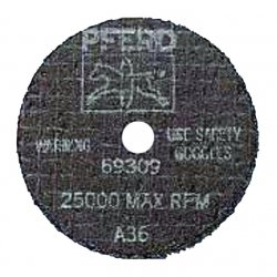 Pferd - 69301 - 3 Type 1 Aluminum Oxide Abrasive Cut-Off Wheel, 1/4 Arbor, 0.035-Thick, 25, 000 Max. RPM
