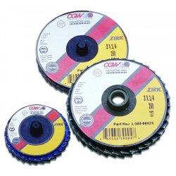 "CGW Abrasives - 30016 - 3""roloc-type T27 Zir Reg120 Grit Flap Disc, Ea"