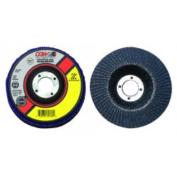 "CGW Abrasives - 31025 - 5""x7/8"" Zs-80 T27 Reg Stainless Flap Disc, Ea"