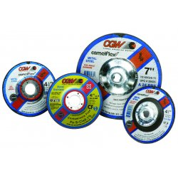 CGW Abrasives - 35671 - 4x1/8x3/8 A24-r-bf Steelt27 Dp Ct Whl