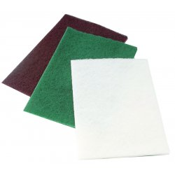 "CGW Abrasives - 36243 - Light Duty White 6""x9"" Hand Pad 10/pk"