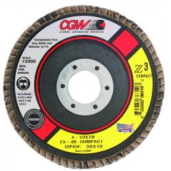 CGW Abrasives - 36313 - Compact Z3 Flap Disc- T29- 40 Grit