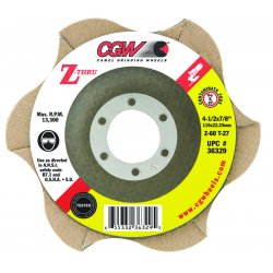 CGW Abrasives - 36330 - 4 1/2 X 7/8 Z-80 T27 Z-thru Flap Disc