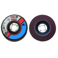 "CGW Abrasives - 39214 - 4"" X 3/8-24 T27 A3 Regular 60 Grit Flap Disc Usa, Ea"
