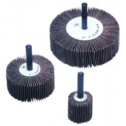 CGW Abrasives - 39966 - 1x1x1/4-20 Alum Oxide 80grit Flap Wheel