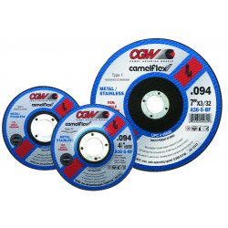 CGW Abrasives - 45030 - 5 X 3/32 X 7/8 A36-s-bft1 Cutoff Wheel (.094)
