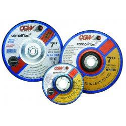"""CGW Abrasives - 45036 - 4""""x1/4""""x3/8"""" Za24-t-bf Zirc T27 Dp Ct Whl, Ea"""