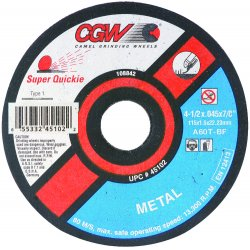 CGW Abrasives - 45105 - 5x.045x7/8 T1 A60-t-bf Super Quickie