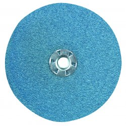 "CGW Abrasives - 48234 - 4""x 5/8 50 Grit Type Zirk Disk Resin Fibre Disc"