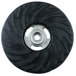 "CGW Abrasives - 49521 - 4 1/2"" Medium Back-up Pad W/o Nut, Ea"