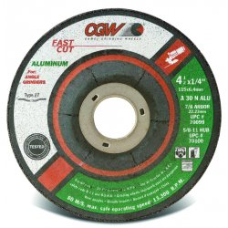 "CGW Abrasives - 70102 - 5"" X 1/4 X 5/8-11 A30-n-alu Aluminum T27"