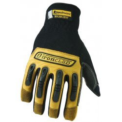 Ironclad - RWG04L - Ranchworx Leather Gloves, Black/Tan, Large