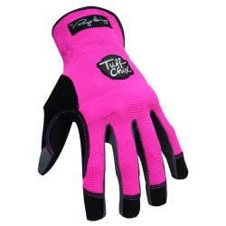 Ironclad - TCX24L - General Utility Mechanics Gloves, Synthetic Leather Palm Material, Pink, L, PR 1