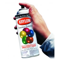 Krylon - K01613A00 - Acryli-Quik Spray Paint in Semi-Flat Black for Metal, Steel, Wood, 12 oz.