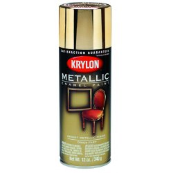 Krylon - K01706 - Metallic Metallic Spray Paint in Metallic Gold Metallic for Ceramic, Glass, Metal, Paper, Plaster, P