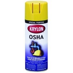 Krylon - K02116 - OSHA Spray Paint in Gloss Safety Red for Iron, Metal, Paper, Wood, 12 oz.