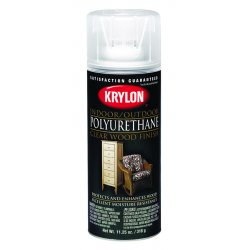 Krylon - K07006 - Spray Paint in Satin Clear Polyurethane for Ceramic, Glass, Metal, Plaster, Plastic, Wood, 12 oz.
