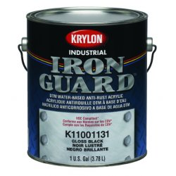 Krylon - K11001131 - Gloss Black Industrial Iron Guard Paint One Gall