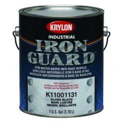 Krylon - K11001201 - Krylon Products Group 1 Gallon Can Flat Black Krylon Coatings Iron Guard Series K110 Krylon Water Based Anti Rust Acrylic Enamel Paint (4 Per Case)