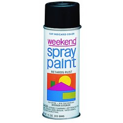 Krylon - I00356 - 11-oz. W.i.flat Black Weekend Spray Paint Inter