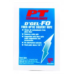 PT Technologies - 61200 - D'gel Fo Cable Cleaner144 Wipes Per Cs
