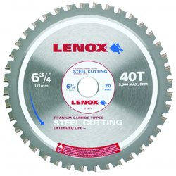Lenox - 21878ST634040CT - 6-3/4 In. (171 mm) 40TPI Steel Cutting Circular Saw Blade