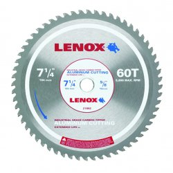 "Lenox - 21882AL714060CT - 7-1/4"" 60t Aluminum Metal Cutting Saw Blade"