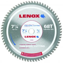 "Lenox - 21883TS714068CT - 7-1/4"" 68t Thin Steel Metal Cutting Saw Blade"