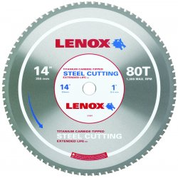 "Lenox - 21891ST140080CT - 14"" 80t Steel Metal Cutting Saw Blade"