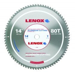 "Lenox - 21892 - 14"" 80t Aluminum Metal Cutting Saw Blade"